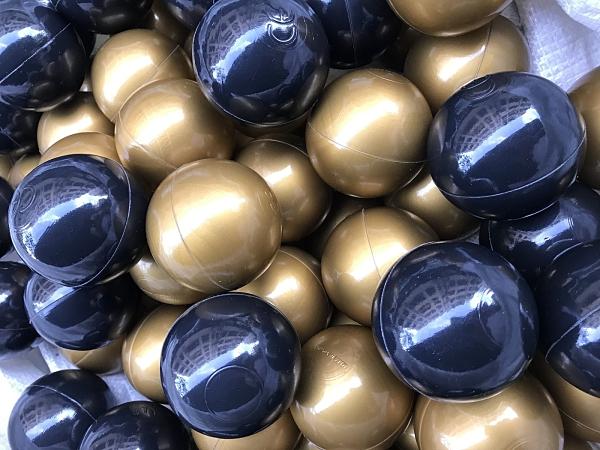 現貨~台灣製~球池球屋遊戲彩球~限量黑金彩球50顆~彩色軟球~海洋球/波波球~SGS檢驗~餐廳/民宿