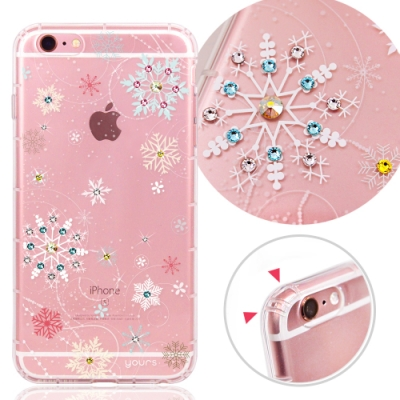 YOURS APPLE iPhone6s / iPhoe6 奧地利彩鑽防摔手機殼-雪戀
