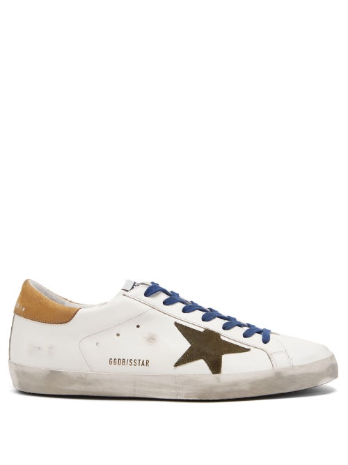 Golden Goose - Superstar Suede-trimmed Leather Trainers - Mens - White