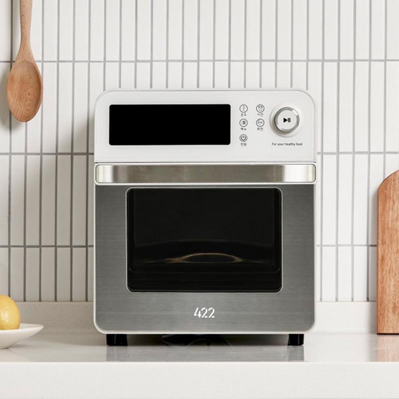 【422】AIR FRYER AF13L 氣炸烤箱(多色可選)+牛排烤盤+旋轉籠+烤叉串 白色+配件組