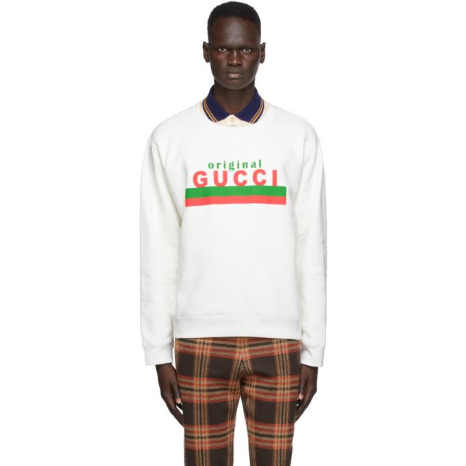 Gucci 灰白色徽标套头衫