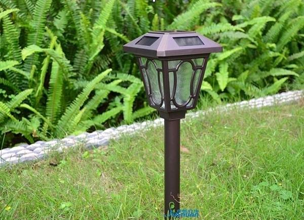 家用超亮太陽能草坪燈防水花園插地室外照明LED戶外歐式庭院路燈QM 向日葵