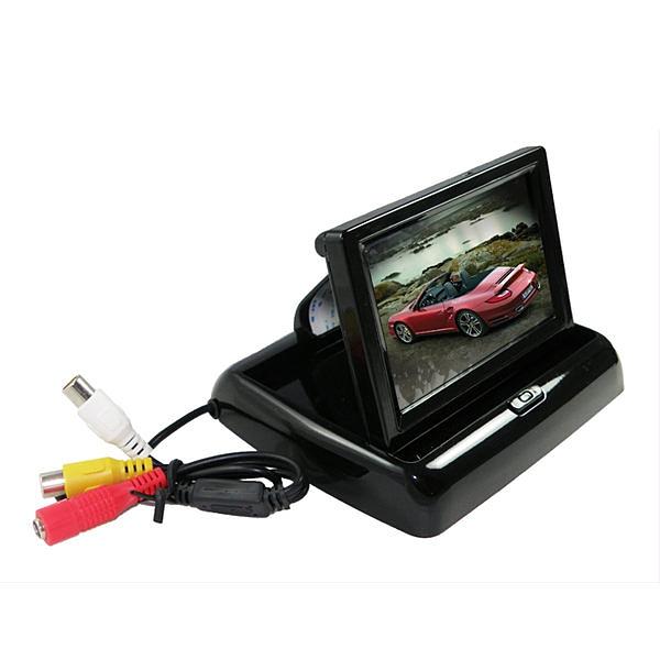 【真黃金眼】4.3吋摺疊小螢幕(行車記錄器或倒車顯影皆可使用) AV OUT影像輸出