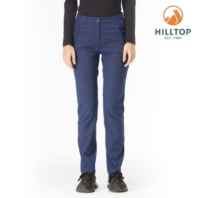 【hilltop山頂鳥】女款彈性保暖長褲H31FM5黑深藍