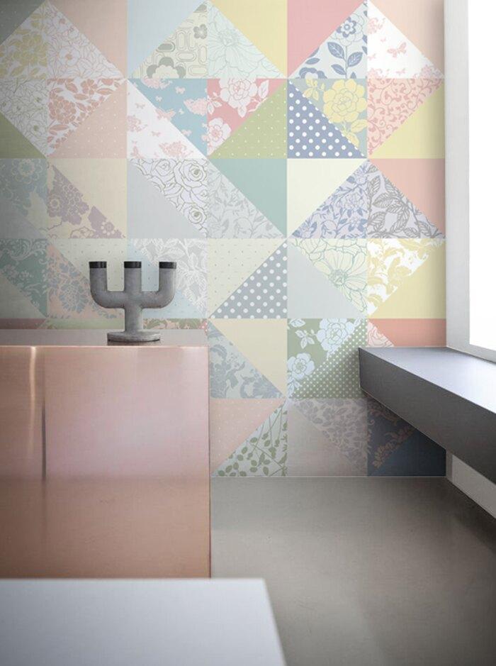 韓國原裝超擬真水貼自黏壁紙(無殘膠)20片- 印象系Floral Lace