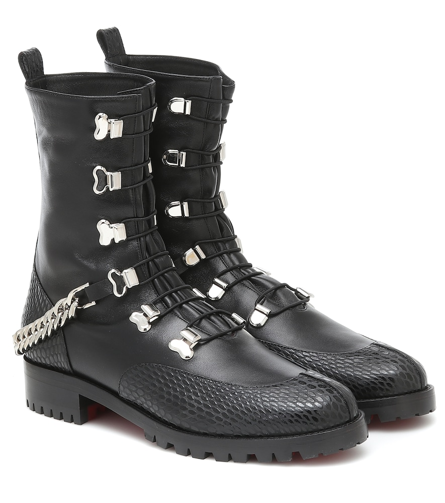 Horse Guarda leather ankle boots