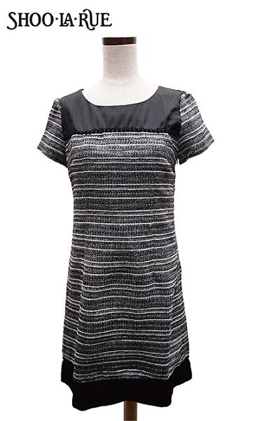 SHOO.LA.RUE氣質拼接收腰短袖洋裝