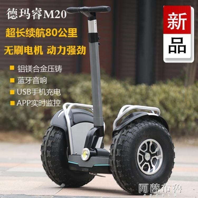 電動獨輪車 德瑪睿M20 兩輪成人電動平衡車成年代步大輪胎保安巡邏雙輪越野款