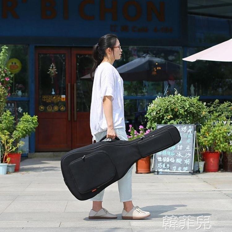 夯貨折扣!吉他包 加厚雙肩民謠木吉他包36/38/39/40/41寸古典電吉他袋套背包琴包
