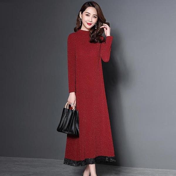 長袖洋裝 長袖連衣裙秋裝2021年新款女裝輕熟風時尚氣質韓版春秋成熟裙子潮 霓裳細軟