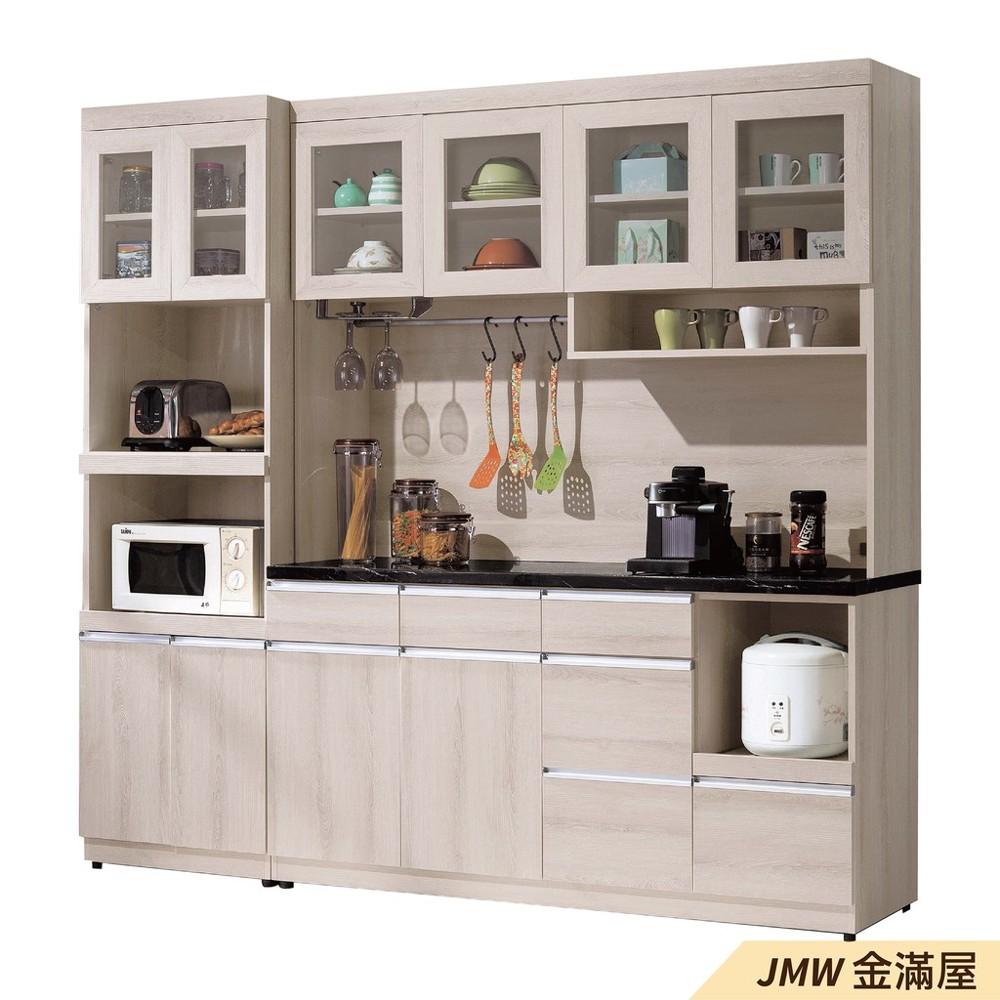 160cm北歐餐櫃收納 實木電器櫃 廚房櫃 餐櫥櫃 碗盤架 中島大理石金滿屋尺餐櫃-j383-0