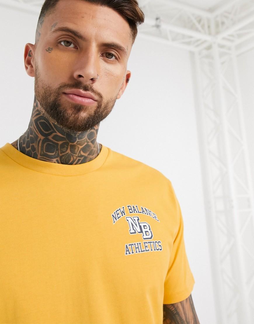 New Balance Athletics varsity t-shirt in yellow
