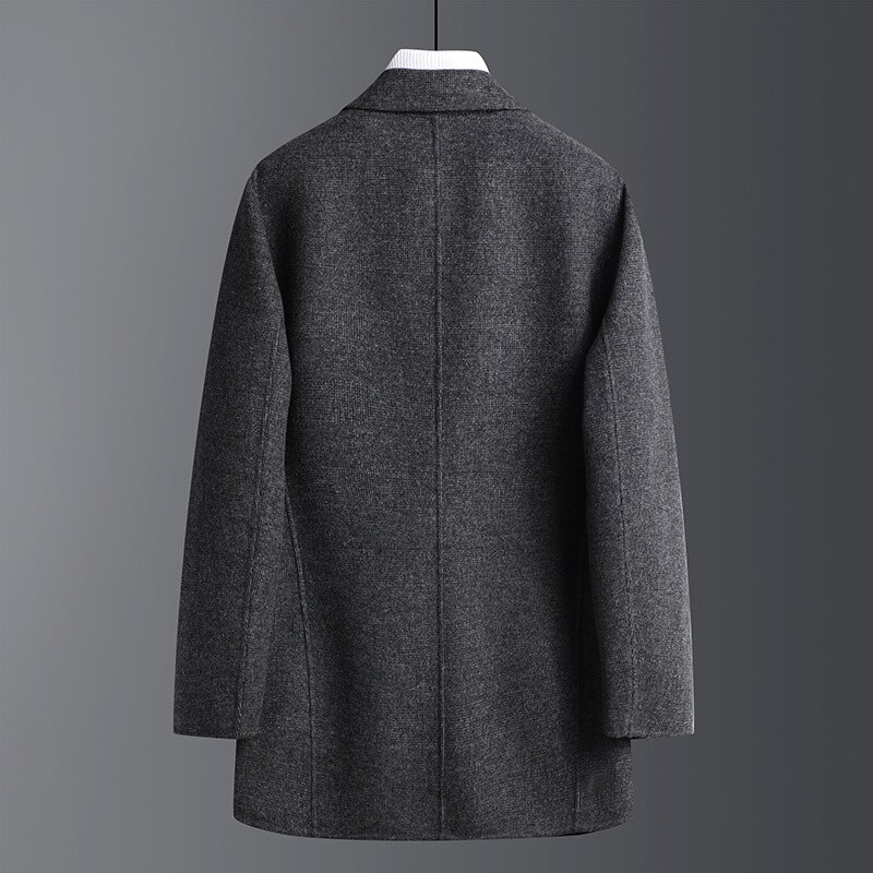 毛呢外套中長款大衣-羊毛復古修身百搭男外套73yu31【獨家進口】【米蘭精品】