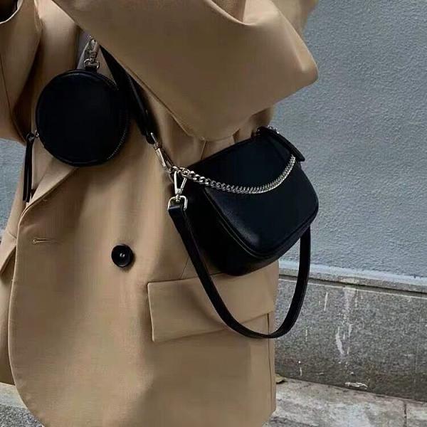 限時特價 女包包新款三合一挎包Hobo腋下法棍包百搭文藝清新單肩斜挎包