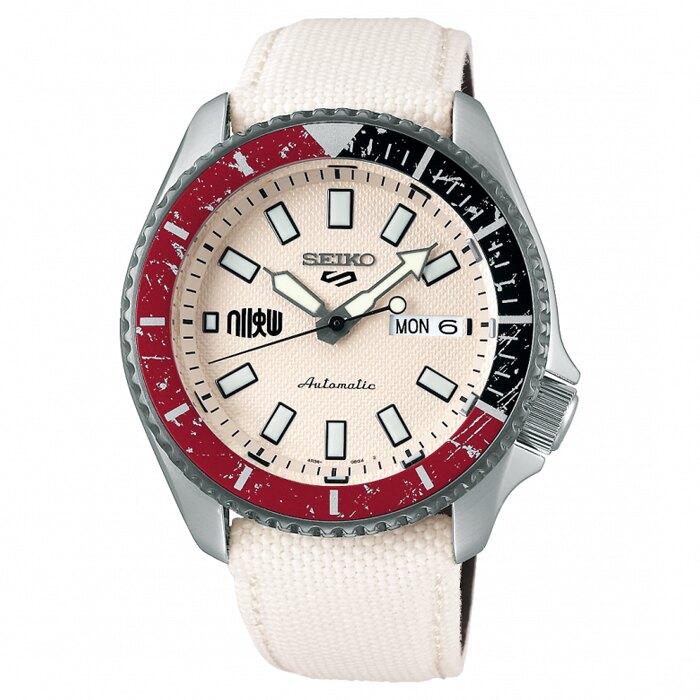 SEIKO 5 Sports 限量快打旋風聯名剛毅之拳RYU隆機械錶/42.5mm SRPF19K1(4R36-08P0W)