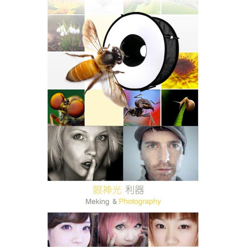 【eYe攝影】環型 環閃 柔光箱 閃光燈罩 甜甜圈 折疊閃燈柔光罩 商攝 婚攝微距 人像眼神光 45cm