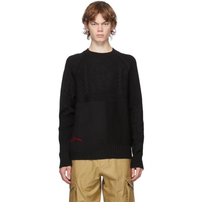 Alexander McQueen 黑色 Punk 羊毛圆领毛衣
