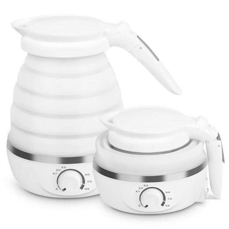 【快速出貨】可折疊電熱水壺便攜式迷你家用小型旅行燒水壺自動保溫開水壺   七色堇 元旦 交換禮物