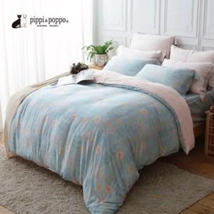 pippi & poppo 60支頂級天絲 床包四件組 5尺(沁涼夏日5尺