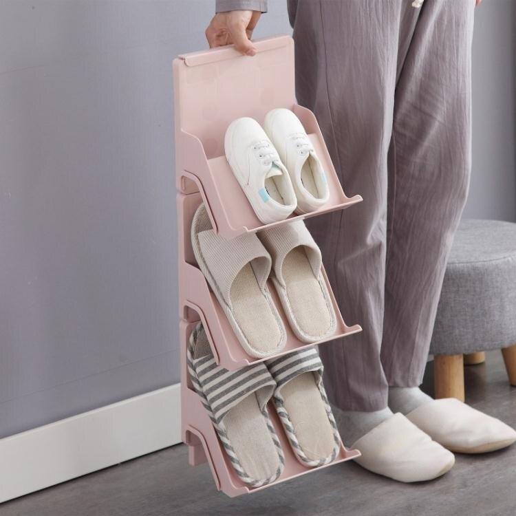 鞋架 日式多層簡易鞋架經濟型家用靠墻款塑料鞋子收納架宿舍門口鞋柜 清涼一夏钜惠