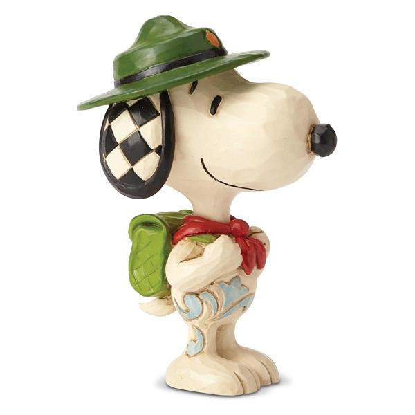 Enesco Peanuts SNOOPY史努比童子軍迷你塑像_EN97322