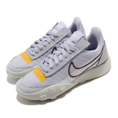 Nike 休閒鞋 Waffle Racer 2X 運動 女鞋 經典款 鬆餅外底 復古 穿搭 球鞋 紫 黃 CK6647001