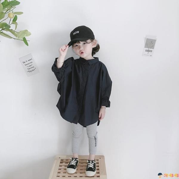 兒童襯衫韓板寬松闊形個性寶寶凹造型時尚上衣男女【淘嘟嘟】