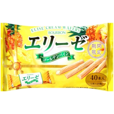 Bourbon 愛麗絲黃金鳳梨風味捲心酥 (144g)
