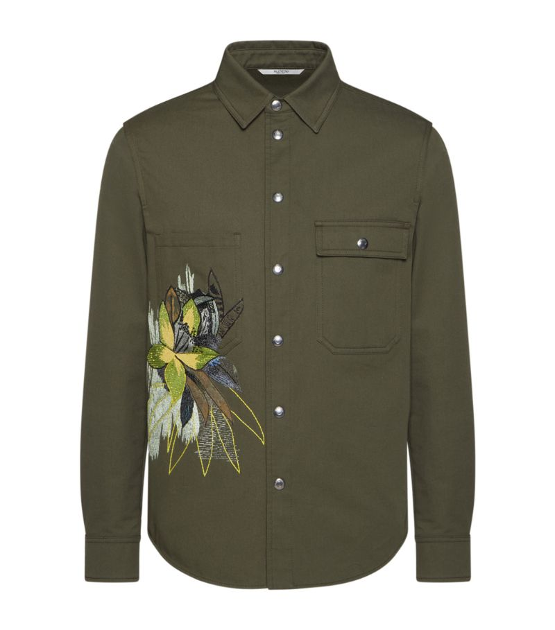 Valentino Mural Jungle Print Shirt