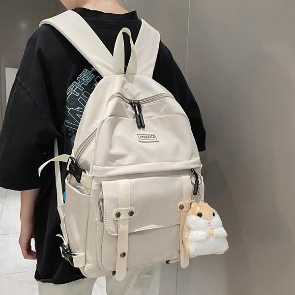 北包包2020新款潮書包韓版帆布百搭男女時尚雙肩包森系大學生背包 Cocoa