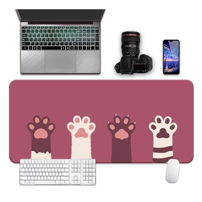 30*70cm 可愛 貓爪 加大滑鼠墊  防滑墊 電腦週邊 軟墊 辦公室小物 鼠標墊葉子小舖