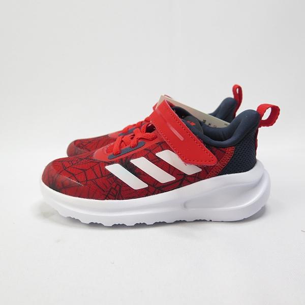 Adidas FORTARUN SPIDER 蜘蛛人聯名 魔鬼氈 小童鞋 FV4266 紅【iSport愛運動】