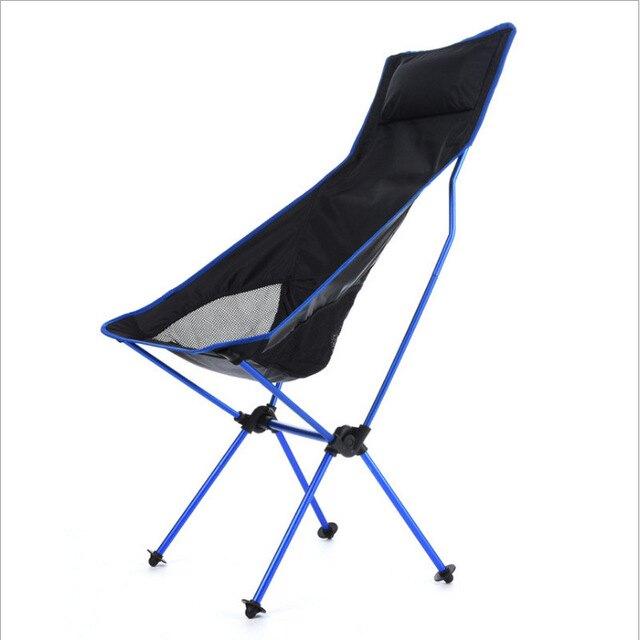 月亮椅 7075鋁合金月亮椅/超輕鋁合金折疊椅/頭枕摺疊椅/機車露營椅/加長月亮椅T【全館免運 限時鉅惠】