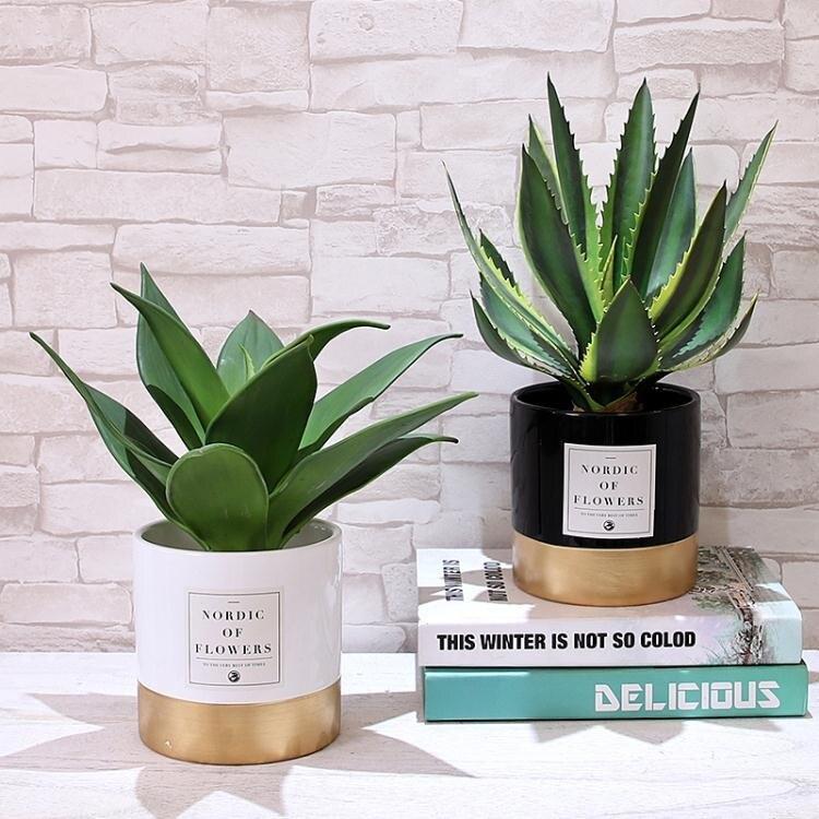 [假期折扣]仿真花北歐仿真植物ins風裝飾家居擺件臥室假盆栽小擺設客廳創意桌擺花