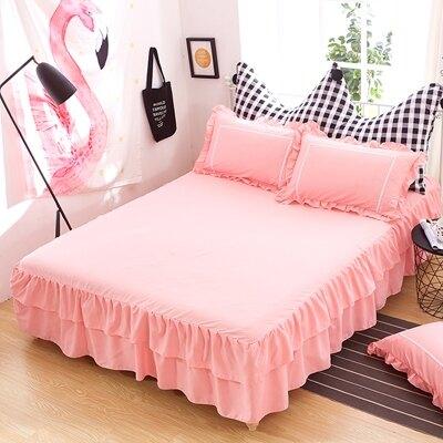 床裙單件床罩純棉韓版床笠床罩床單1.5米1.8米2.0m床防滑保護套