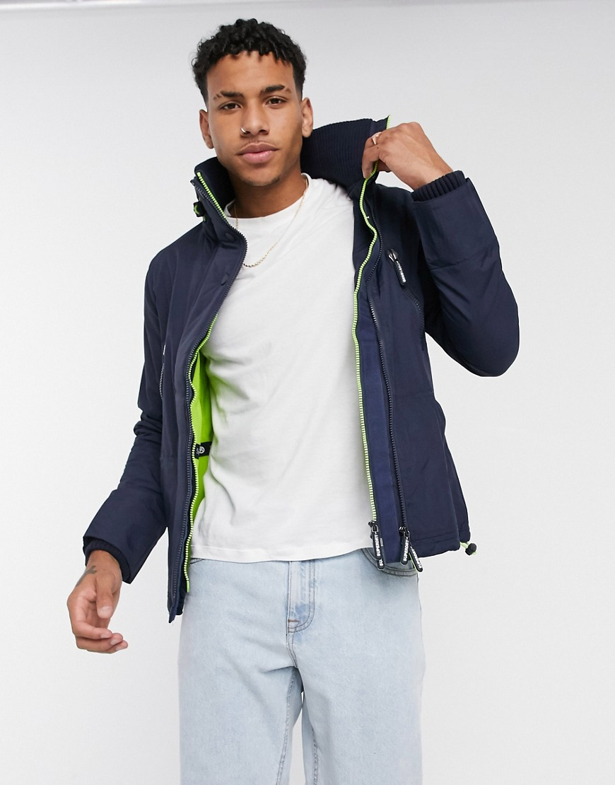 Superdry polar wind attacker jacket-Navy