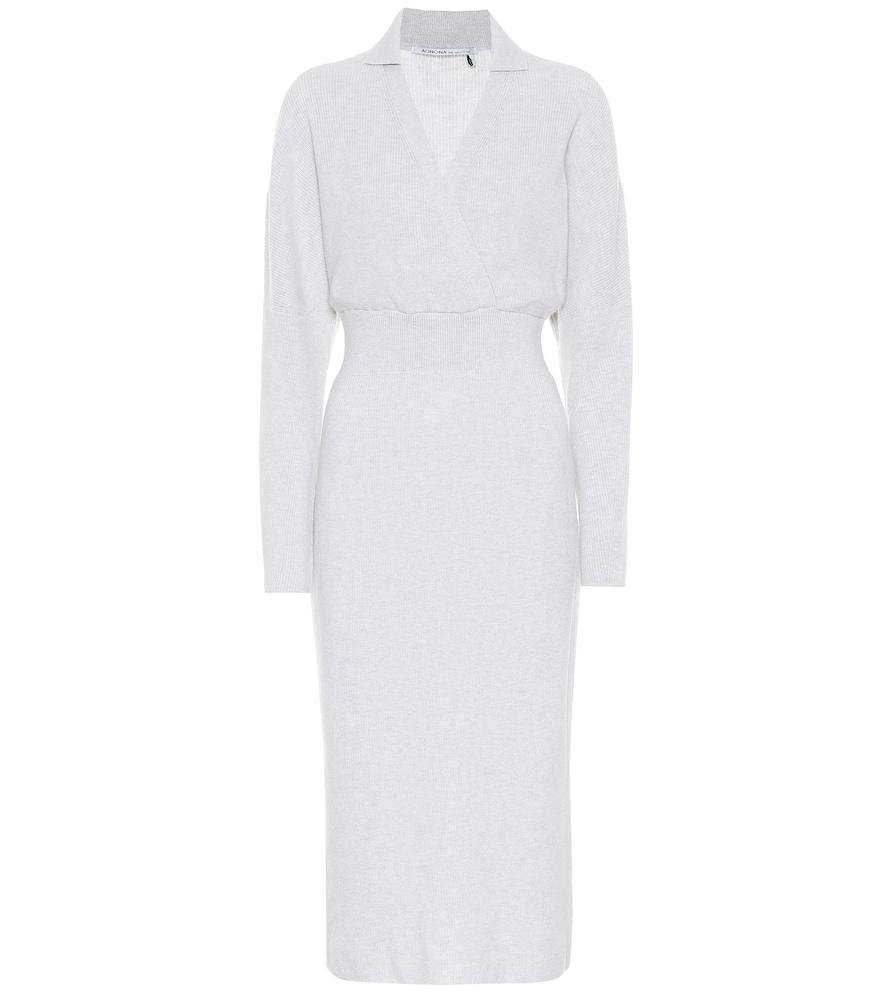 Cashmere and cotton-blend midi dress