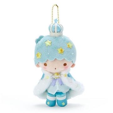 雙子星 KIKI 絨毛玩偶娃娃吊飾《綠白》掛飾.鑰匙圈.星星皇冠