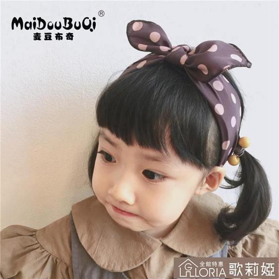 可愛波點兒童發箍發飾女童甜美公主頭飾發卡成人少女頭飾
