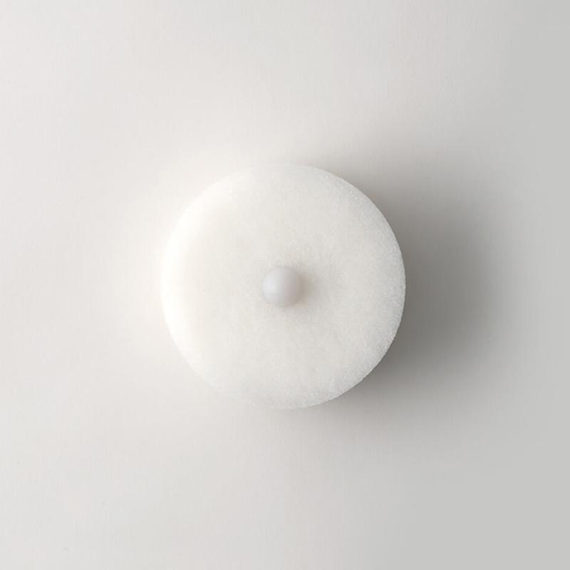 日製POCO易起泡去汙三層海綿刷附吸盤 白