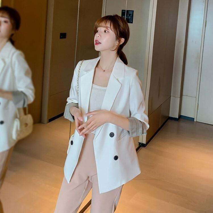 2020年韓版春季休閒百搭大碼顯瘦小西裝時尚潮流純色女士西裝外套 小山好物 清涼一夏钜惠