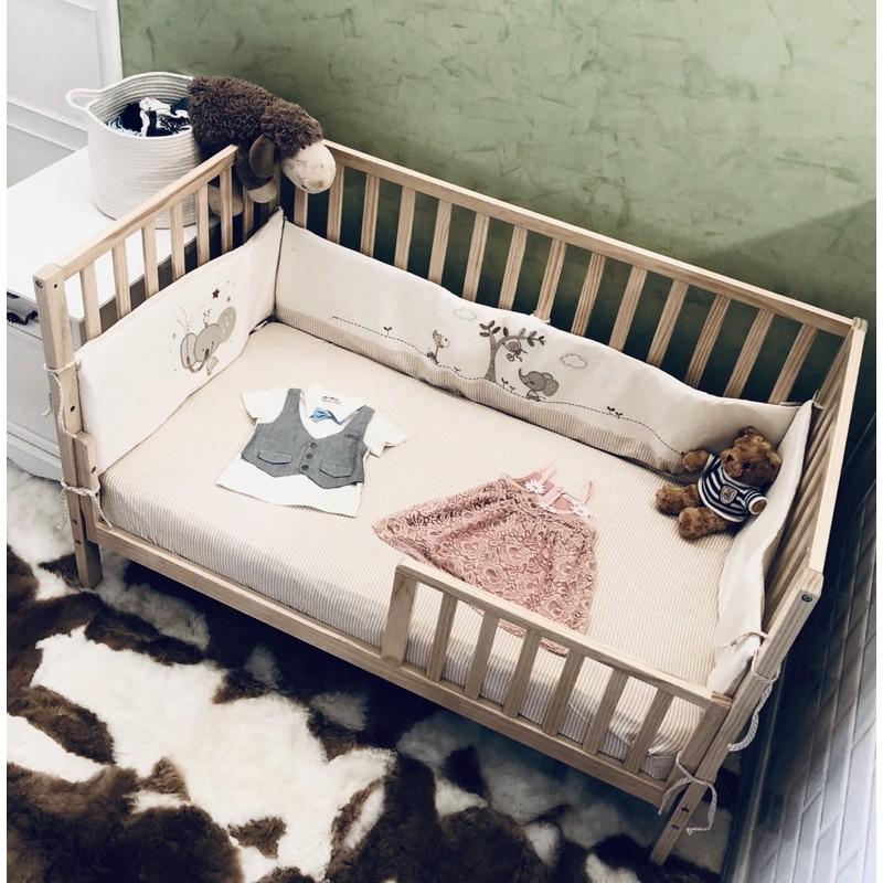 喬依思4合1成長型嬰兒床-原木色