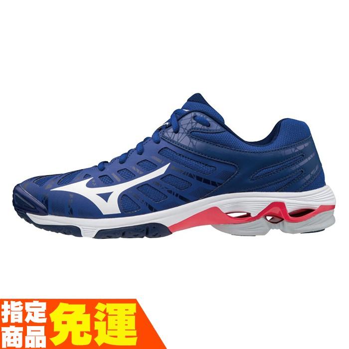 MIZUNO WAVE VOLTAGE 男款排球鞋 進階 藍 V1GA196020 贈運動襪 20FWO