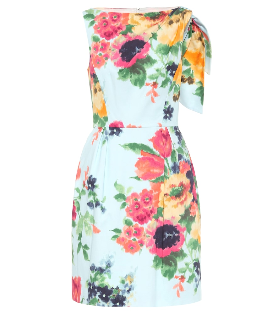Floral cotton-blend minidress