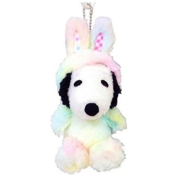 史努比 復活節絨毛玩偶娃娃吊飾《白彩.兔裝》掛飾.鑰匙圈