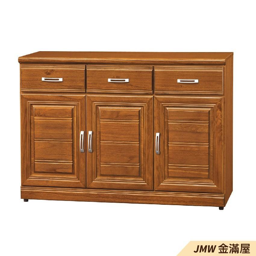 4尺北歐餐櫃收納 實木電器櫃 廚房櫃 餐櫥櫃 碗盤架 中島大理石金滿屋尺餐櫃-g839-3 -