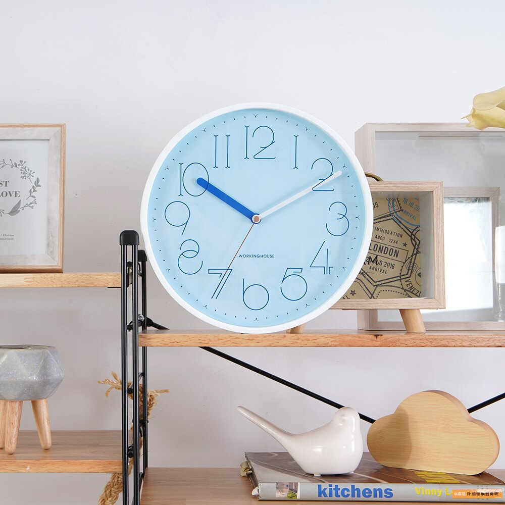 【品牌週全館8折up】藍白拼色輕甜掛鐘-生活工場 雙11購物節