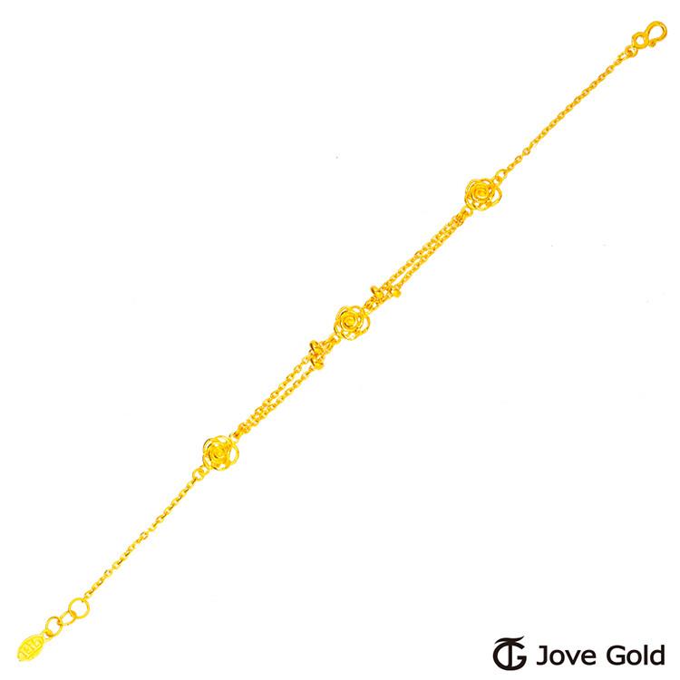 jove gold 漾金飾 玫瑰之戀黃金手鍊
