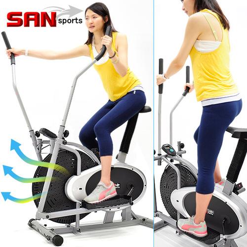 動感橢圓漫步機(結合划船機+跑步機+手足健身車)