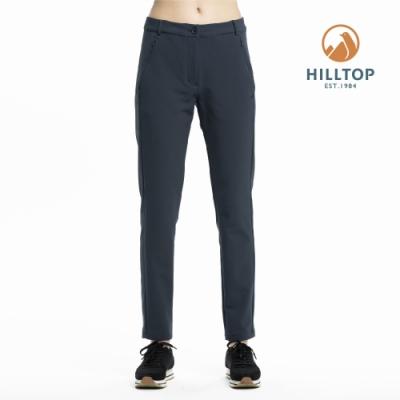 【hilltop山頂鳥】女款超潑水保暖彈性長褲PH31XFL9ECK0印墨色